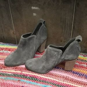 Vince Camuto Gray Suede Booties